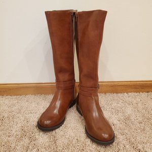 Maisie Brown Leather Boots